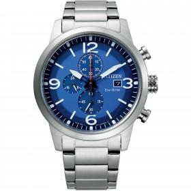 Orologio Uomo Citizen Silver Chrono Blue CA0741-89L