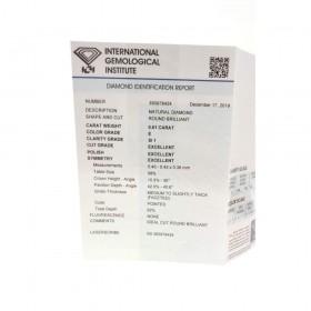 Diamante in Blister Certificato IGI 0.61 ct E SI1