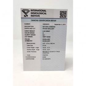 Diamante in Blister Certificato IGI 0.42 ct D SI1