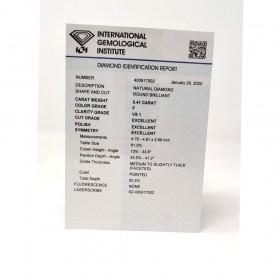 Diamante in Blister Certificato IGI 0.41 ct G SI1