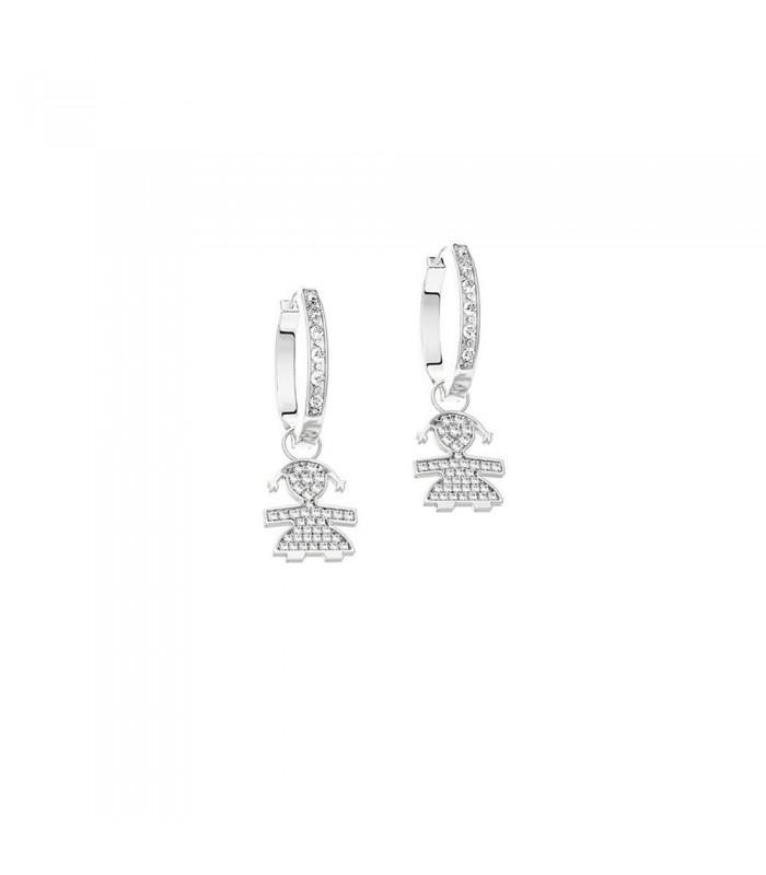 Le Bebè Orecchini Oro Bianco Diamanti Bimba LBB059