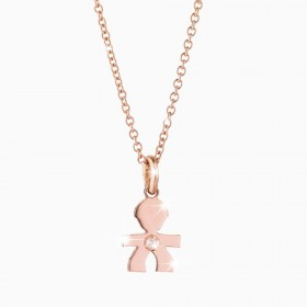 Le Bebé Collana Le Briciole Maschietto Oro Rosa LBB321