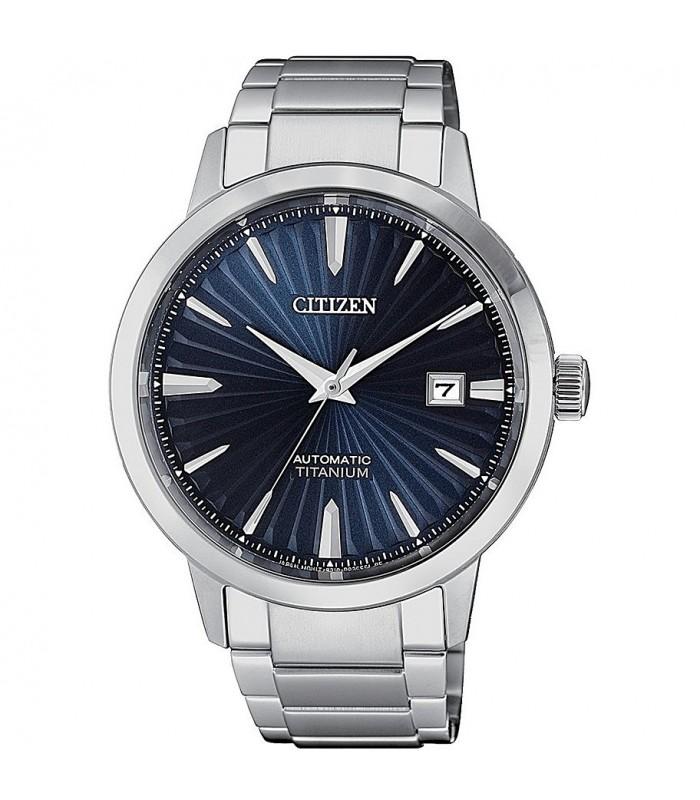 Orologio Uomo Citizen Meccanico Blu NJ2180-89L