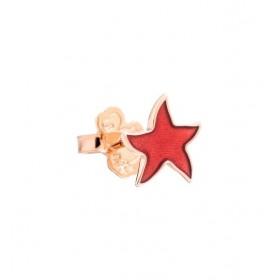 Monorecchino Dodo Stella Oro Rosa Smalto Rosso Corallo DOHSTP/9/CTR/K