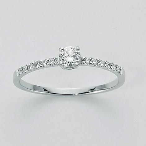 Anello Miluna Oro Bianco 750 Diamanti LID2311-008G7