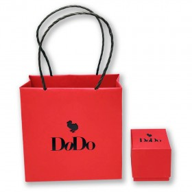 Collana Donna Dodo Quadrifoglio Oro Rosa e Bianco 9Kt DCLLP/QDPP/9/K