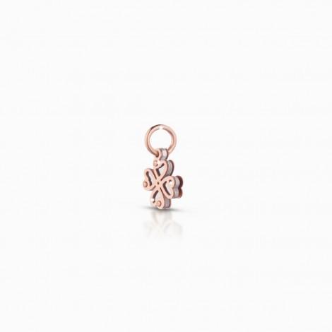 Le Bebé Lock Your Love Charm Quadrifoglio Oro Rosa 9 KT LBB165
