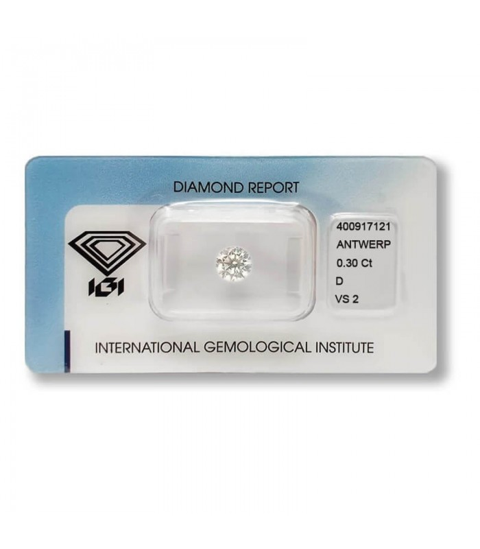 Diamante in Blister Certificato IGI 0.30 ct D VS2