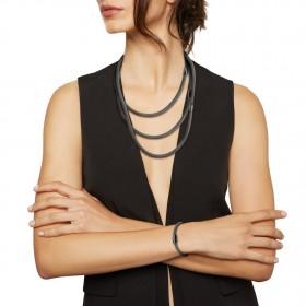 Collana Donna Breil New Snake Soft Nero Trasformabile TJ2842