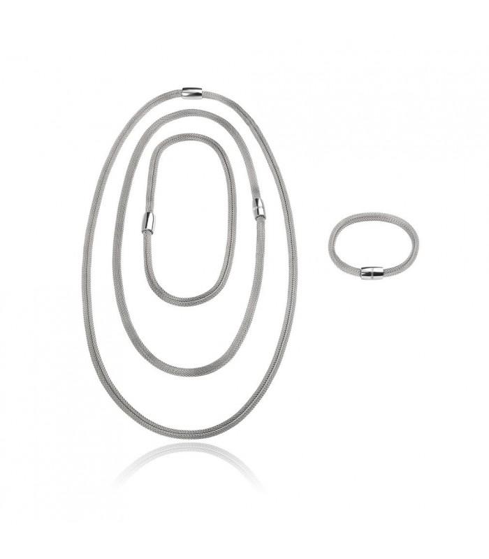Collana Donna Breil New Snake Soft Silver Trasformabile TJ2840