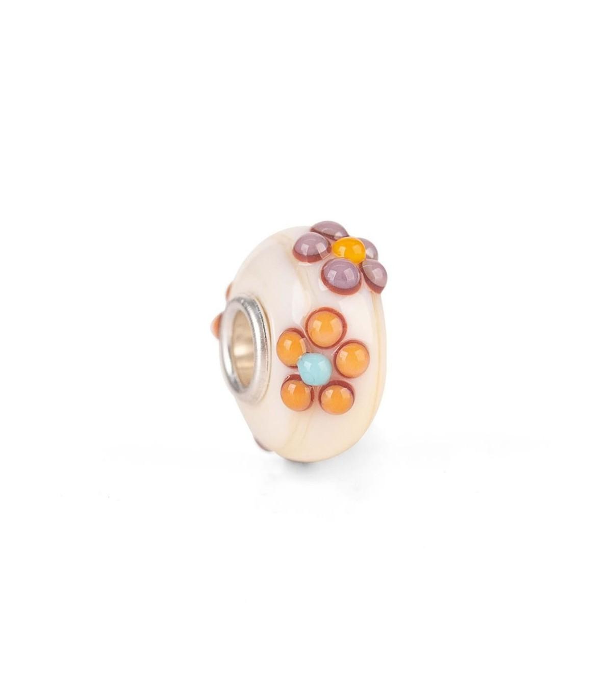 TROLLBEADS Bead in Vetro Fiore dell/'Eleganza TGLBE-10441 ORIGINALE