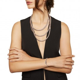 Collana Donna Breil New Snake Soft Rosa Trasformabile TJ2841