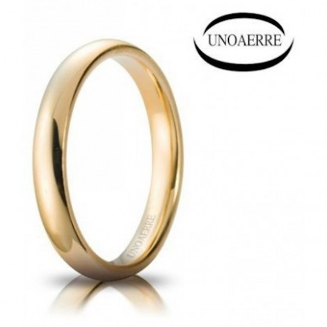 Fede Unoaerre Comoda Oro Giallo 3 mm