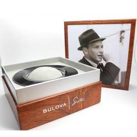 Orologio Uomo Bulova Collezione Frank Sinatra 40mm Cinturino in Pelle Marrone 96B359