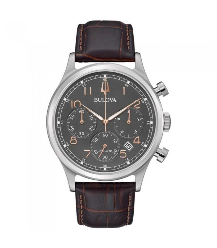 Orologio Cronografo Uomo Bulova Collezione Frank Sinatra 40mm Marrone e Antracite 96B356