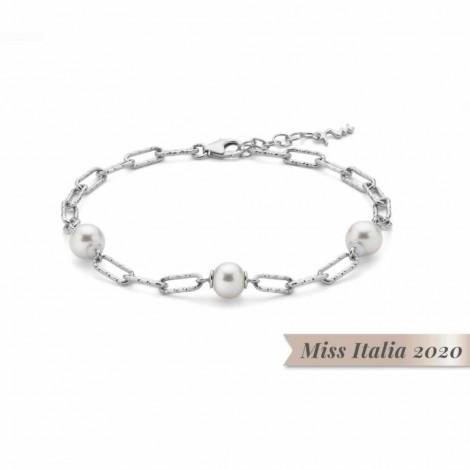 Bracciale Donna Miluna Miss Italia 3 Perle  PBR32000