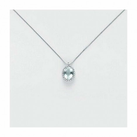 Collana Miluna Diamanti  e Acquamarina 1,1 ct CLD4127