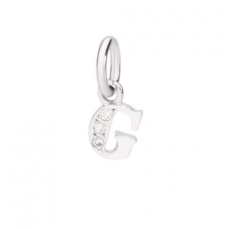 Ciondolo Dodo Lettera G Oro Bianco 18Kt Diamanti DLETPOB/B/G
