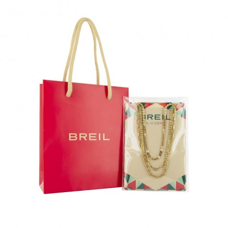 Breil Collana Donna Kaleido Tre Giri Acciaio Gold TJ3004