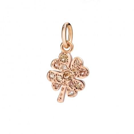 Dodo Ciondolo Quadrifoglio Diamanti Brown 0,15ct Oro Rosa 9kt DMQDP/9/BR