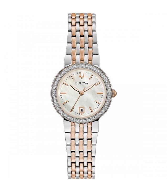 Orologio Donna Bulova Classic Oro Rosa e Diamanti 98R280