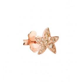 Monorecchino Dodo Stellina Diamanti Brown Oro Rosa DOHSTP/9/BR