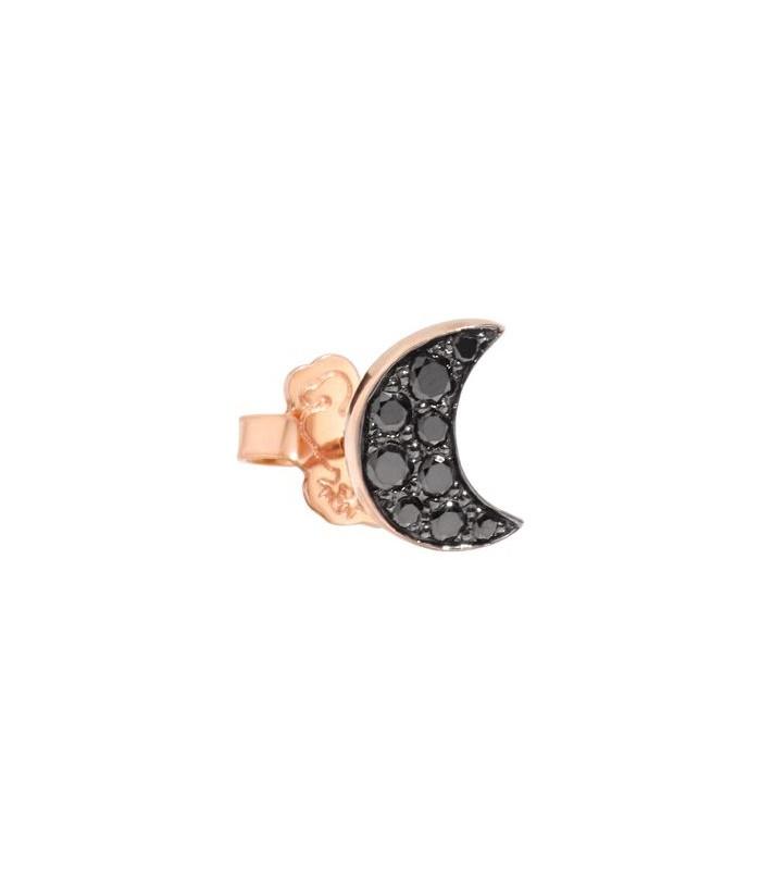 Monorecchino Dodo Luna Diamanti Black Oro Rosa DOHLU/9/BB