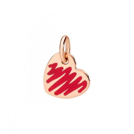 Charms Dodo Cuore Oro Rosa e Smalto Rosso DMCUORG/9/RED