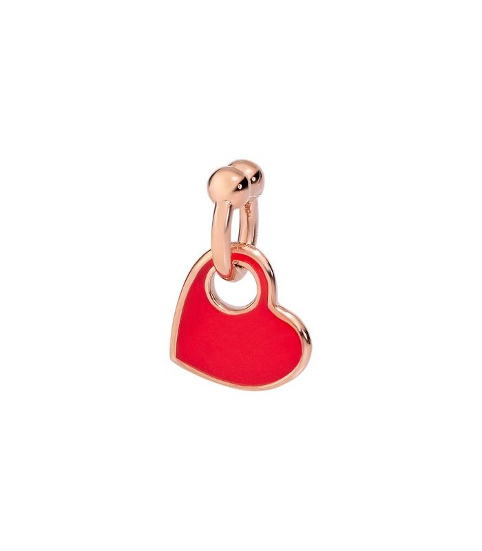 Ciondolo Dodo Cuore Oro Rosa e Smalto Rosso DMPICUORP/9/RED