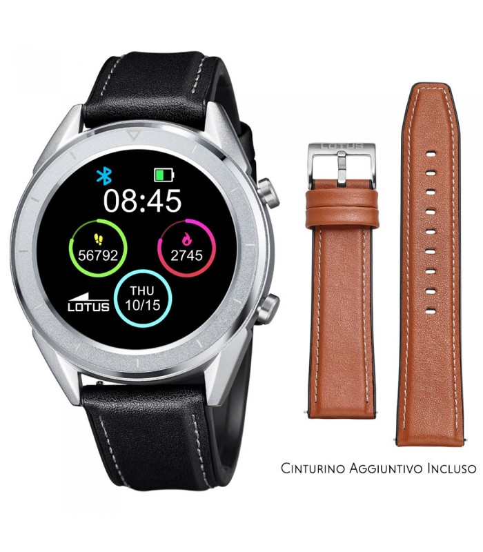 Smartwatch Lotus Smartime Multifunzione 50008 Nero e Marrone