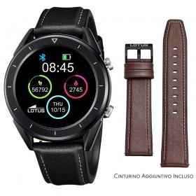 Smartwatch Lotus Smartime Multifunzione 50009 Nero e Marrone