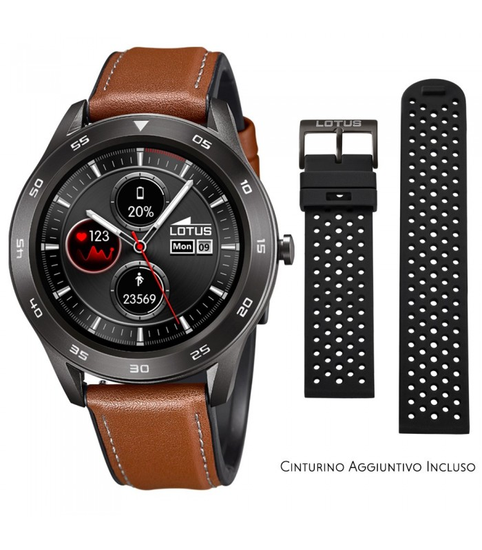 Smartwatch Lotus Smartime Multifunzione 50012 Marrone