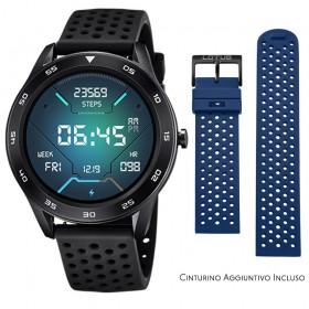 Smartwatch Lotus Smartime Multifunzione 50013 Nero e Blu