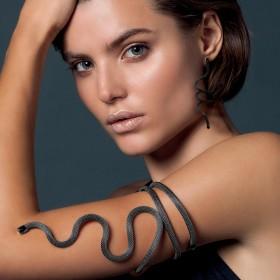 Orecchini Donna Breil New Snake Black TJ2725