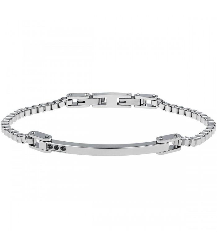 Bracciale Uomo Breil Black Diamond Silver TJ2744
