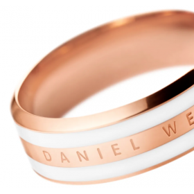 Anello Daniel Wellington Satin Rose/Bianco DW00400040