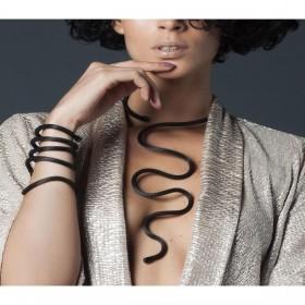 Collana Donna Breil New Snake Black TJ2717