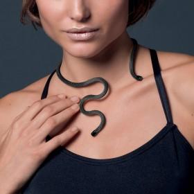 Collana Donna Breil New Snake Black TJ2713