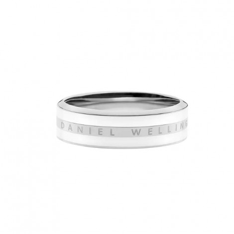 Anello Daniel Wellington Satin Silver/Bianco DW00400048
