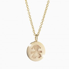 Collana Le Coccole in oro 9kt bambina LBB142-N