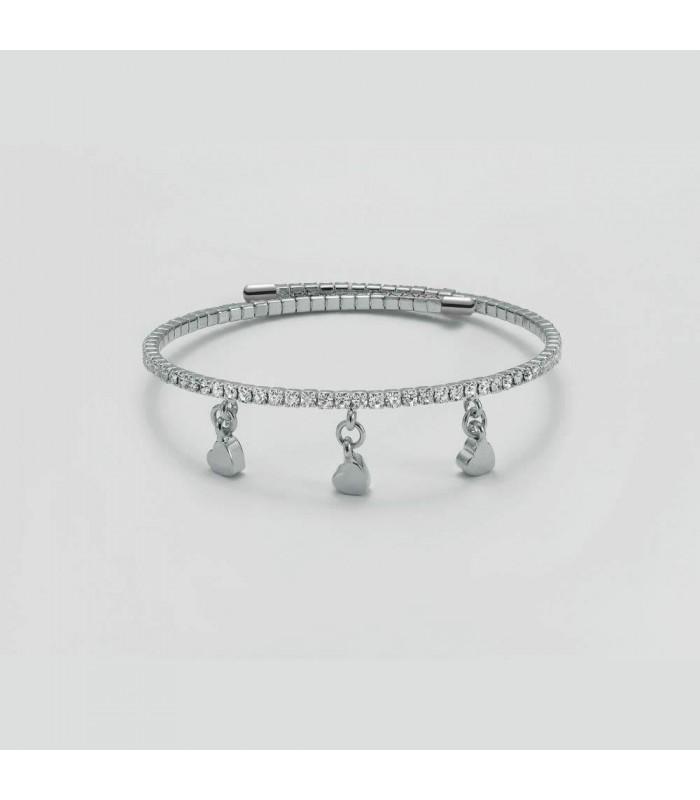 Bracciale Donna con Cuori Pendenti Kiara Design KBRD1439B