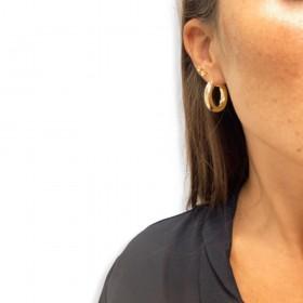 Orecchini a Cerchio 5mm Donna Raggi Argento 925 Dorato RA/015056
