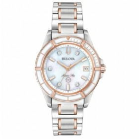 Orologio Donna Bulova Diamonds Bianco 98P187