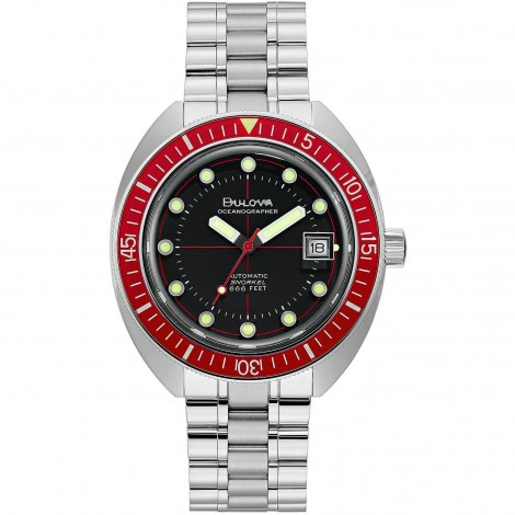Orologio Uomo Bulova Oceangrapher Rosso 96B343