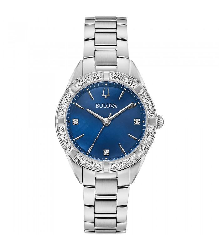Orologio Donna Bulova Diamonds Blu 96R243