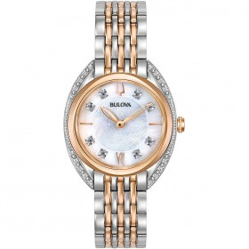 Orologio Donna Bulova Diamonds Acc/Rose 98R270